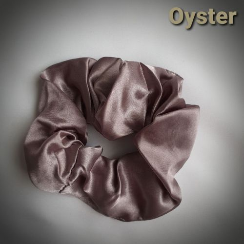 Oyster Satin Scrunchie